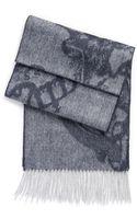 Hugo Boss Heltos  Wool-cashmere Heritage Print Scarf - Lyst