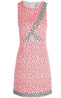 Sea Combo Cut Out Dress Red - Lyst