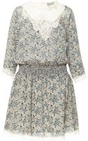 Sea Grey Paisley Lace Combo Smocked Dress - Lyst
