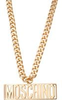 Moschino Plate Necklace - Lyst