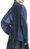 Donna Karan New York Caftan Jacket Old Indigo - Lyst