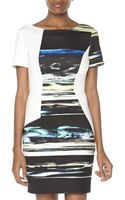 Sachin & Babi Pyxis Asymmetricprint Sheath Dress - Lyst