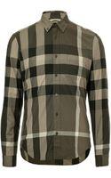Burberry Brit Cotton Plaid Fred Shirt - Lyst
