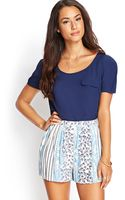Love 21 Pintucked Woven Top - Lyst