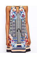 Clover Canyon Silk Dress in Byzantine Scarf Print - Lyst
