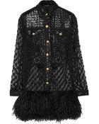 Balmain Embellished Silk-Organza Dress - Lyst