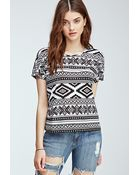 Forever 21 Tribal Print Top - Lyst