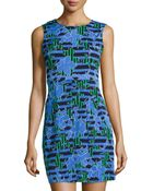Diane von Furstenberg Round-Neck Mini-Dress - Lyst