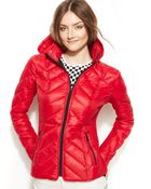 BCBGeneration Packable Chevron-Quilted Down Puffer Jacket - Lyst