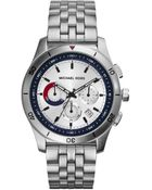 Michael Kors Midsize Silver Color Stainless Steel Outrigger Chronograph Watch - Lyst