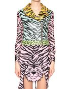 Moschino Cheap & Chic Multiprint Leather Jacket - Lyst