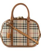 Burberry Small Orchard Horseferry Check Leather Tote - Lyst