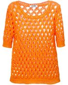 Moschino Cheap & Chic Open Knit Top - Lyst
