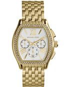 Michael Kors Womens Chronograph Amherst Goldtone Stainless Steel Bracelet Watch 38mm - Lyst