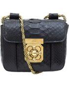 Chloé Small Black Elsie Python Bag - Lyst