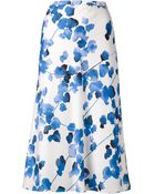 Narciso Rodriguez Printed A-Line Skirt - Lyst