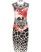 Roberto Cavalli Printed Silk Dress - Lyst