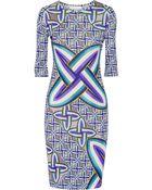 Peter Pilotto Edie Printed Jersey Dress - Lyst
