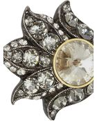 Lanvin Blanche Pewtertone Crystal Ring - Lyst