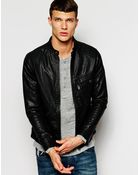 G-star Raw G Star Jacket Defend Faux Leather Slim Fit Zip Front - Lyst