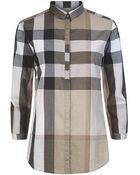 Burberry Brit Check Cotton Shirt - Lyst