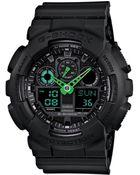 G-Shock Men'S Analog-Digital Black Resin Strap Watch 51X55Mm Ga100C-1A3 - Lyst