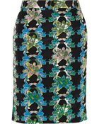 M Missoni Printed Cotton And Silk-Blend Skirt - Lyst