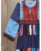 Free People Vintage Denim Patchwork Dress - Lyst