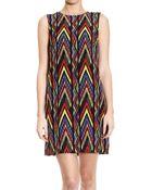 M Missoni Dress Sleeveless Silk Printed Geometric - Lyst