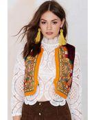 Nasty Gal Vintage Jimi Velvet Embroidered Vest - Lyst