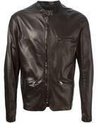 Salvatore Santoro Leather Zipped Jacket - Lyst
