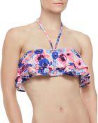 Zinke Reese Flutter Halter Bandeau Bikini Top - Lyst