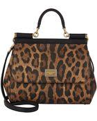Dolce & Gabbana Leopard-Print Medium Miss Sicily Bag - Lyst