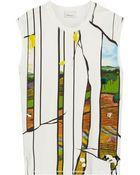 3.1 Phillip Lim Printed Cotton T-Shirt - Lyst