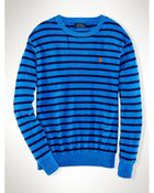 Polo Ralph Lauren Striped Cotton Terry Pullover - Lyst
