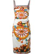 Dolce & Gabbana Sicilia Printed Dress - Lyst