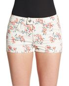 RED Valentino Floral Print Stretch-Cotton Shorts - Lyst