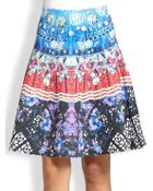 Clover Canyon Fan Printed A-Line Skirt - Lyst