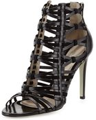 Jason Wu Strappy Leather & Suede Cage Sandal - Lyst