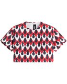 DSquared² Printed Cropped Top - Lyst