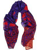 Diane von Furstenberg New Boomerang Printed Silk Scarf - Lyst