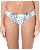 Heidi Klein Snake-Print Fold-Over Bikini Bottoms - For Women - Lyst
