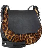 Rag & Bone Leopard-Print Small Bradbury Flap-Front Hobo - Lyst