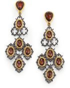 Alexis Bittar Elements Muse D'Ore Pyrite Doublet Lace Chandelier Earrings - Lyst