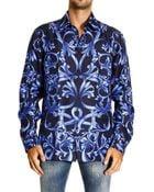 Versace Shirt Regular Placed Barocco Print - Lyst
