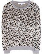 Diane von Furstenberg Wool Jacquard Sweater - Lyst