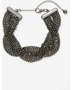 Nasty Gal Weave Your Mark Chain Necklace - Lyst