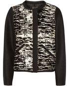Isabel Marant Bremon Printed Calf Hair And Wool-Felt Jacket - Lyst