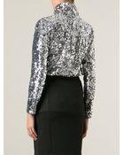 By Malene Birger Sequinned Roll Neck Sweater - Lyst