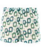 Laura Manara Ruby Chainprint Silk Shorts - Lyst